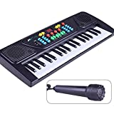 KYOKIM Children's 37-key Electronic Piano, Multi-functional Early Childhood Education Toy With Microphone