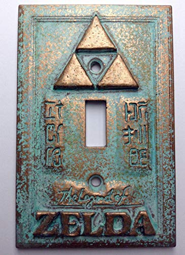 Legend of Zelda Stone/Copper/Patina Light Switch Cover