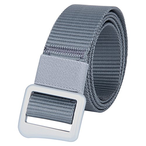 JINIU Nylon Web Belts Adjustable Simple Belt Buckle for Men & Women Grey Color - Purchase Online India Sites