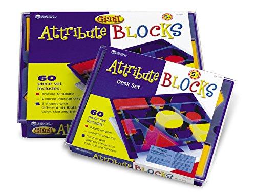 Learning Resources Attribute Blocks Desk Set in Tray (Renewed)