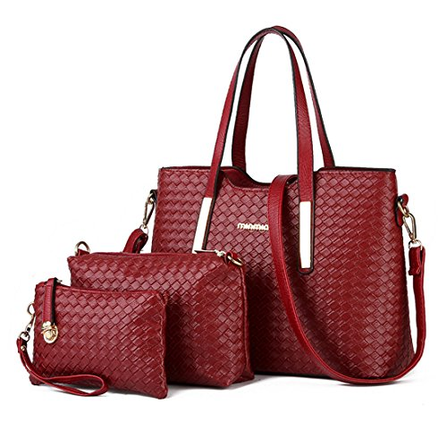 Luckywe Women Elegant Bag With Handles And Shoulder Bag Multicolor Tote Bags Red Costume 3