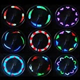 Oenbopo Colorful 14 LED Motorcycle Cycling Bicycle Bike Wheel Signal Tire Spoke Light Lamp 30 Changes Waterproof