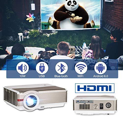 Wireless Indoor Outdoor HD Smart Video Projectors Android 5000 Lumen 5.8