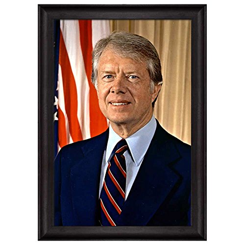 Portrait of James Carter (39th President of the United States) American Presidents Series Framed Art Print