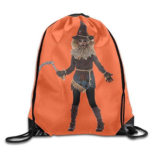 Halloween Creepy Scarecrow Costume Waterproof Drawstring Bag Travel Storage (Halloween Costumes Seattle)
