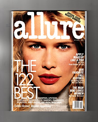 Allure Magazine - October, 1998. Claudia Schiffer cover. Kate Beckinsale, Queen Latifah, Annette Bening, The 122 Best, 13 Best-Selling Fall Looks, The Man Who Loves Women, Beware Stilettos, All Enya (Allure Magazine Best Beauty)