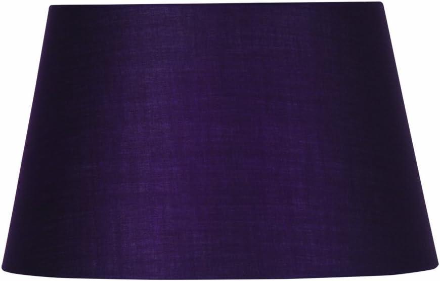 color morado Pantalla cil/índrica para l/ámpara algod/ón, 25,4 cm Oaks Lighting