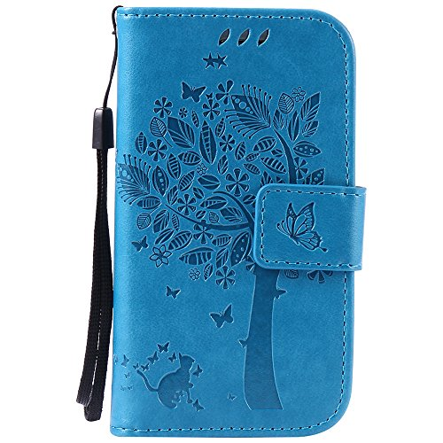 samsung s3 mini case retro blue - 9