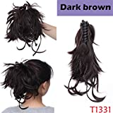 Snoilite 12' Synthetic Diy Black Blonde Brown Braids Claw Clip In On Extensions Hair Ponytail Hairpieces