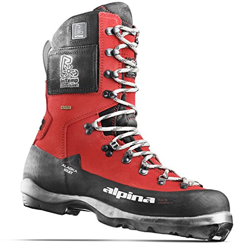 Alpina Sports Alaska Heat Heated Leather Backcountry Cross Country Nordic Ski Boots, Euro 46, - Skis Backcountry Alpina