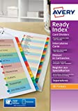 Avery Readyindex Indexes With Subdividers Fsc-Certified Card Customisable 6-Part Ref 5606501