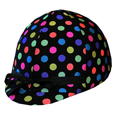 lmet Cover - Black Polka Dots ()