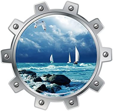 Cosanter 3D Trois dimensions Stickers muraux Peinture Monde sous-marin Ville Paysage Peinture d/écorative WC Autocollant