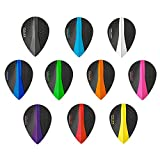 10 x Sets Harrows Retina Mixed Colour Dart Flights Pear
