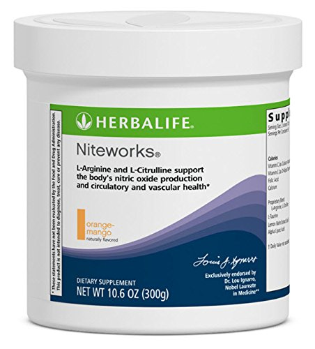 Herbalife Niteworks Powder Mix - Orange-Mango, 30-day supply by Herbalife by Herbalife