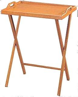 Essential Home Oak Finish Folding Tv Tray Table / Snack Drinking Portable Desk  sc 1 st  Amazon.com & Amazon.com: Lipper International Bamboo Lipped Snack Table Set of ...