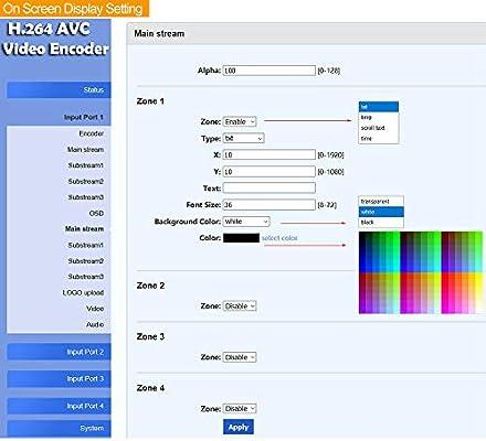 URayTech - Codificador de vídeo IPTV con 4 canales para RTSP, RTP, RTMP, HTTP, UDP y ONVIF: Amazon.es: Electrónica