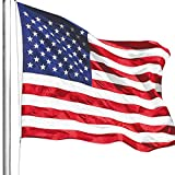 ANLEY [Heavy Duty] American US Flag 4x6 Foot Nylon - Embroidered Stars and Sewn Stripes - 4 Rows of Lock Stitching - USA Banner Flags with Brass Grommets 4 X 6 Ft