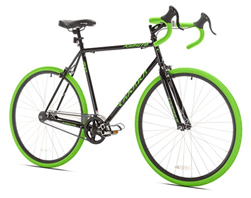 Takara Kabuto Single Speed Road Bike, 700c, Black/Green, Lar