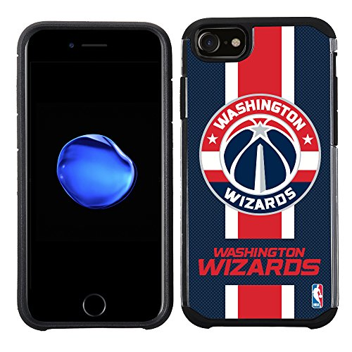 NBA Washington Wizards - Licensed Team Color Texture Case with Center Stripe Design for iPhone 8 / iPhone 7 / iPhone 6s / iPhone 6