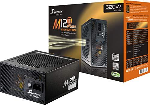Seasonic M12II EVO 520 SS-520GM2 520W 80+ Bronze EVO Edition ATX12V & EPS12V Full Modular 105 °C Japanese Capacitor 5 Year Warranty Power Supply