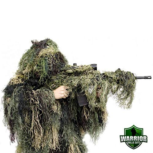 Arcturus Warrior Ghillie Suit | Hunting Clothes for Men | 5-Piece Camouflage Suits for Hunting, Military, Airsoft Snipers (Woodland, M/L)