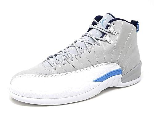Nike Air Jordan 12 Retro, Zapatillas de Baloncesto para Hombre, Gris (WLF Gry/Unvrsty Bl-Wht-Mdnght), 45 1/2 EU: Amazon.es: Zapatos y complementos