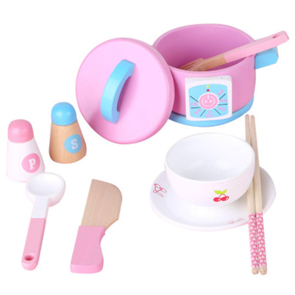 Gotian 14Pcs Kids Kitchen Utensil Accessories Cutlery Role Play Toy Set - Good for Kids -Developing abilities