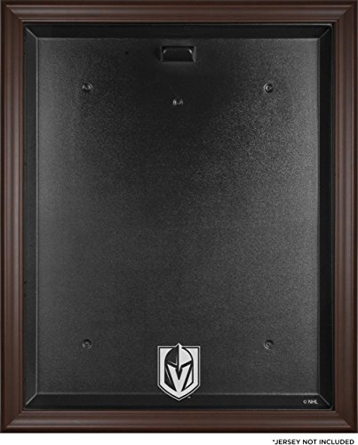 Sports Memorabilia Vegas Golden Knights Brown Framed Logo Jersey Display Case - Hockey Jersey Logo Display Cases - Display Browns Case Logo