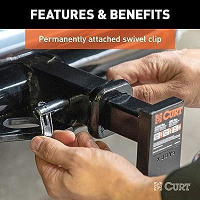 CURT 21541 Swivel Trailer Hitch Pin, 1/2-Inch Pin Diameter, Fits 1-1/4-Inch Receiver: Automotive