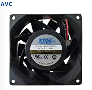 for AVC 2B08038B24S DC 24V 1.80A 80X80X38MM 2pin Inverter Cooling Fan Ball Bearing