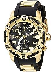 Invicta Mens Bolt Quartz Gold and Silicone Casual Watch, Color:Two Tone (Model: 24218)