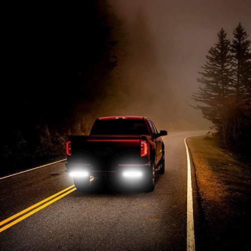 YITAMOTOR LED Light Bar 2PCS 18W 6 Inch Flood LED Work Light Pods Single Row Off Road Led Light Driving Light Fog Light Boat Light Waterproof SUV ATV 4WD Car Truck Golf Cart 12V 24V, 2 Year Warranty