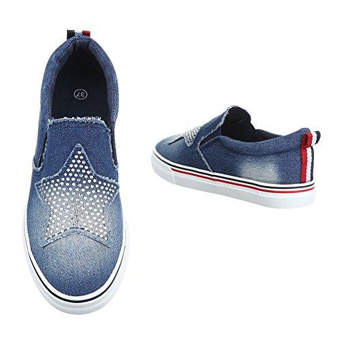 Ital-Design - Zapatillas de casa Mujer Blau 16-185