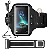 Galaxy Note 9/8 Armband, JEMACHE Gym Run Workout Water Resistant Arm Band Case for Samsung Galaxy Note 9/8 / 5 with Key/Card Holder (Black)