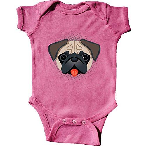 inktastic Cute Pug Puppy Dog Gift Infant Creeper Newborn Raspberry]()