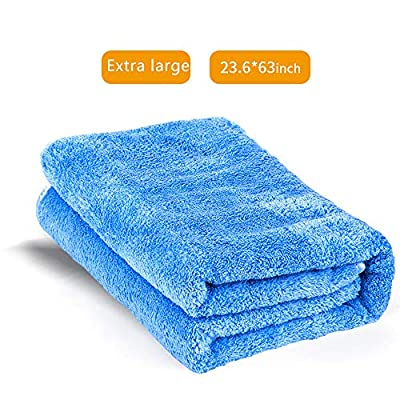 aokway Ultra Large Microfiber Towels for Cars-23.6 inch X 63 inch(Blue): Automotive