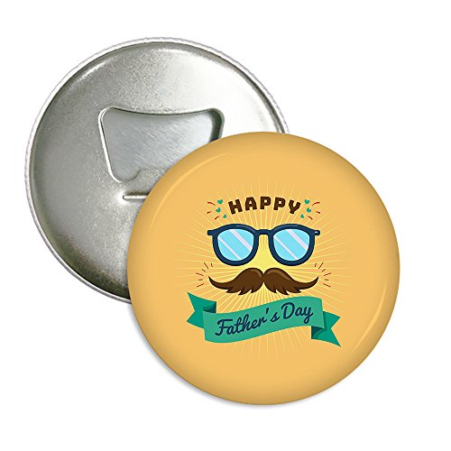 XIANN Sticker Drinking Beer Bottle Opener Multi-function Refrigerator Magnet - Mustache And Glasses For Father's (Coors Light Stained Glass)