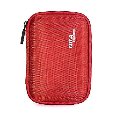 GIZGA 2.5 Inch Portable EVA Hard Drive Case Carrying Pouch Bag for Ultra Slim Essential Elements/Canvio/Samsung M3 Slimline/Passport (Buffalo 1 Tb External Hard Drive)