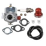eager 1 carburetor - Panari 631612 Carburetor + Primer Bulb Spark Plug for Tecumseh LAV30 LAV35 LAV40 LAV50 Engine Craftsman Lawnmower # 631902 632051 631699 631843 631902A
