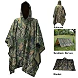 SIUONI Rain Poncho,Waterproof Raincoat with Hoods Rain Poncho for Outdoor Activities Men,Women