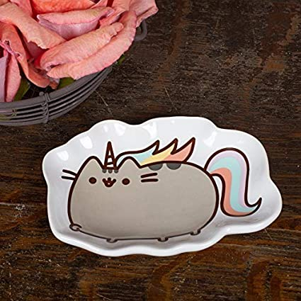 110/ x 80/ x 20/ cm Gund Pusheen Our Name Is Mud pushee nicorn Tray Multicolore Stone Ware