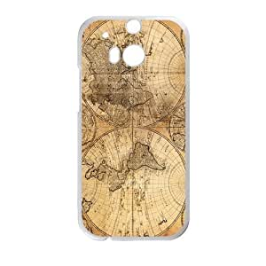 Canting_Good Retro world map Custom Case Shell Skin for HTC One M8 (Laser Technology)