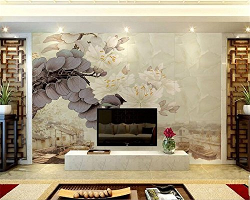 LWCX Customize Any Size Murals 3D Wallpaper Decorative Painting Bauhinia Ink Photo 230X160CM