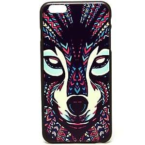 ZXM- patrón lobo tinta cubierta del estuche rígido para el iphone 6 más