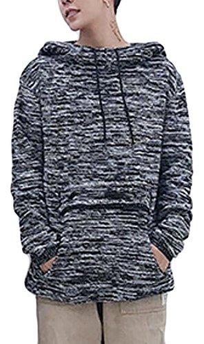 today-UK Men's Athletic Hip Hop Hoodies Slim Fit Pullover Sweater Dark Grey