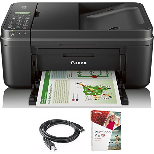Canon PIXMA MX492 WiFi All-In-One Compact Size Printer Scanner Copier Fax (0013C002) with High Speed 6-foot USB Printer Cable & Corel Paint Shop Pro X9 by Canon