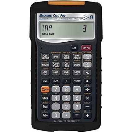 Calculated Industries 4087 Machinist Calc Advanced Machining Math and  Reference Tool