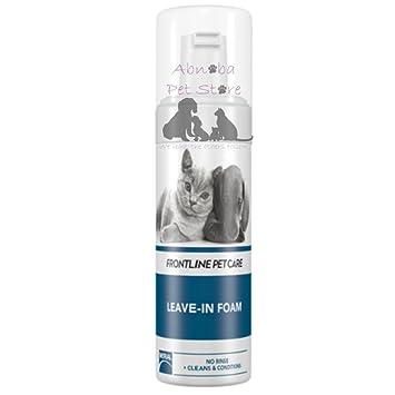 150 ml Espuma de atención de la mascota de primera línea Leave-In Conditioner gato perros alternativa a húmedo champú: Amazon.es: Productos para mascotas
