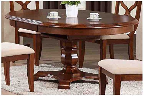 Sunset Trading Andrews Extendable Butterfly Leaf Table, Chestnut (Butterfly Extension Table Set)